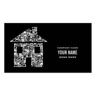 Modernes Haus-Zuhause hält Visitenkarte
