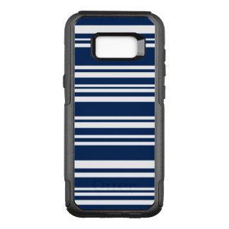 Modernes Indigo und weiße Streifen OtterBox Commuter Samsung Galaxy S8+ Hülle