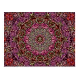 Modernes Kaleidoskop-Mandala-Kunst-Muster Postkarte