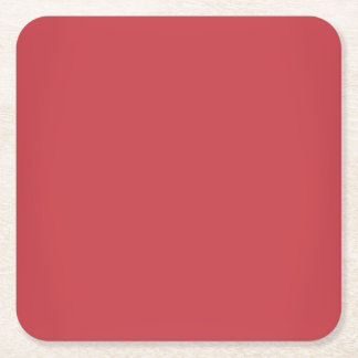 Modernes karminrotes rotes kundengerechtes rechteckiger pappuntersetzer