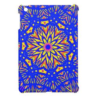 Modernes Königsblau-vernetztes Mandala-Muster iPad Mini Hülle