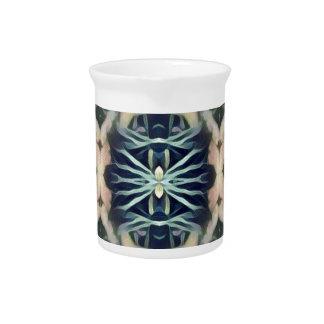 Modernes künstlerisches blaues Stammes- Getränke Pitcher