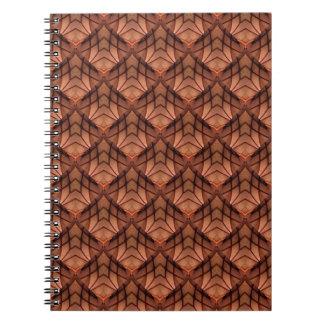 Modernes Kupfer farbiges Muster 034 Spiral Notizblock