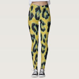 Modernes Leopard-Haut-Muster #10 Leggings