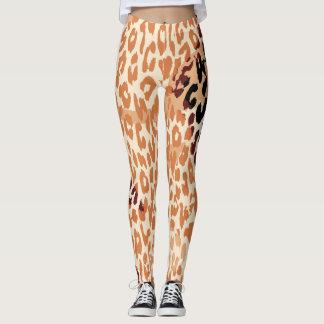 Modernes Leopard-Haut-Muster #21 Leggings