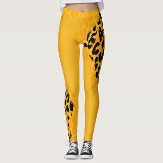 Modernes Leopard-Haut-Muster #24 Leggings