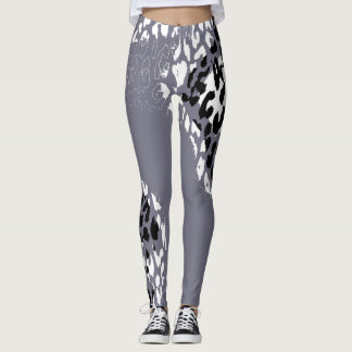 Modernes Leopard-Haut-Muster #25 Leggings