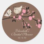 Modernes Liebe-Vogel-Brautparty Sticker