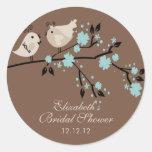 Modernes Liebe-Vogel-Brautparty Stickers