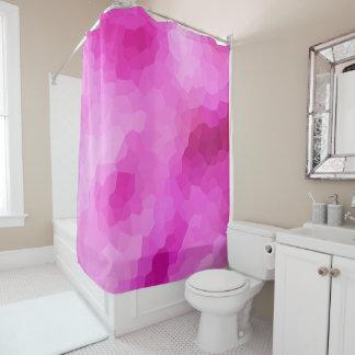 Modernes lila und rosa beflecktes Glas-Mosaik Duschvorhang