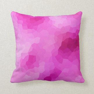 Modernes lila und rosa beflecktes Glas-Mosaik Kissen