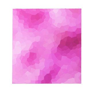 Modernes lila und rosa beflecktes Glas-Mosaik Notizblock