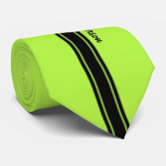 Modernes Limones Grün, das Streifen mit Namen Individuelle Krawatten