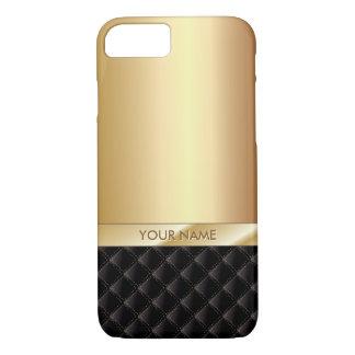 Modernes Luxusgold mit individuellem Namen iPhone 8/7 Hülle