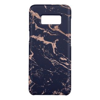 Modernes Marineblau-Rosengoldmarmormuster Case-Mate Samsung Galaxy S8 Hülle