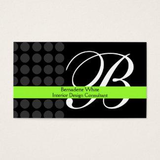 Modernes mit Monogramm Innenarchitektur-Limones Visitenkarten