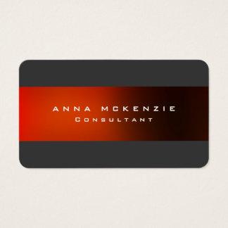 Modernes modisches graues rotes einzigartiges visitenkarte