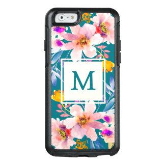 Modernes Monogramm BlumenOtterbox iPhone 6/6s Fall OtterBox iPhone 6/6s Hülle