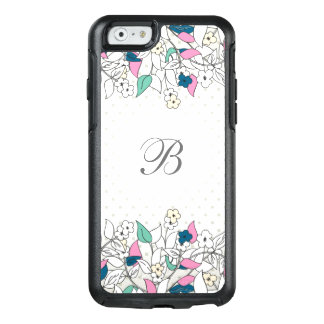 Modernes Monogramm BlumenOtterBox iPhone 6/6s Fall OtterBox iPhone 6/6s Hülle