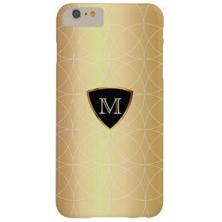 Modernes Monogramm-Goldgeometrisches Muster