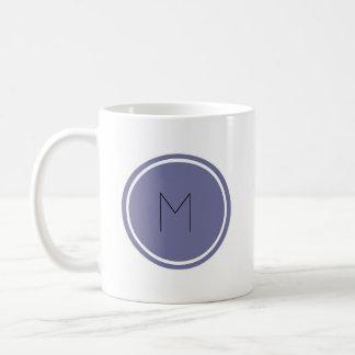 Modernes Monogramm-personalisierte Tasse