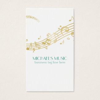Modernes musikalisches Geschäfts-einbrennender Visitenkarte