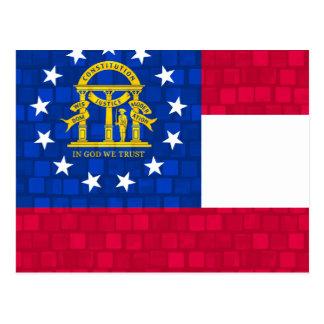 Modernes Muster-georgische Flagge Postkarte