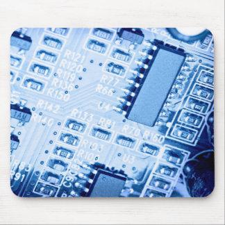 Modernes Muster in den blauen Farben Mousepad