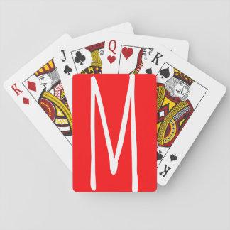 Modernes mutiges Monogramm Spielkarten