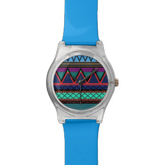 Modernes Neonstammes- Armbanduhr