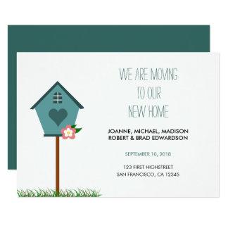 Modernes neues Zuhause, Haus, bewegen wir 12,7 X 17,8 Cm Einladungskarte