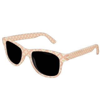 Modernes orange und gelbes Kreis-Tupfen-Muster Sonnenbrille