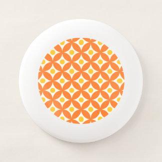 Modernes orange und gelbes Kreis-Tupfen-Muster Wham-O Frisbee