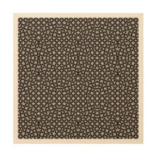 Modernes orientalisches Muster Holzdruck