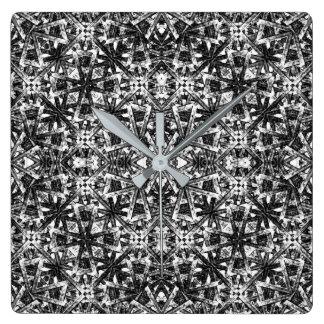Modernes orientalisches Muster Quadratische Wanduhr