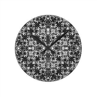 Modernes orientalisches Muster Runde Wanduhr