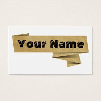 Modernes Papier Visitenkarte