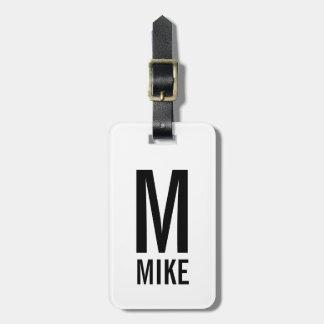 Modernes personalisiertes Monogramm und Name Gepäckanhänger