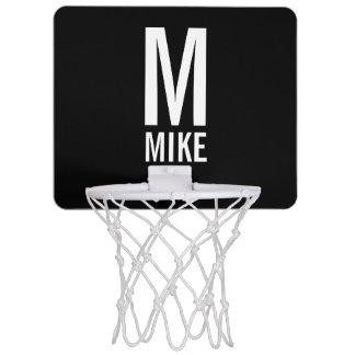 Modernes personalisiertes Monogramm und Name Mini Basketball Ring