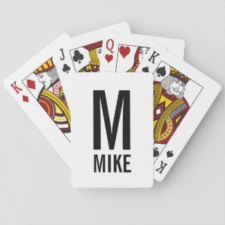 Modernes personalisiertes Monogramm und Name Spielkarten
