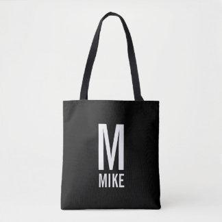 Modernes personalisiertes Monogramm und Name Tasche