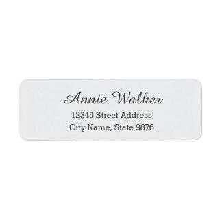 Modernes persönliches Adressen-Etikett - klares