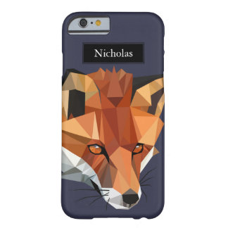 Modernes Polygonfox-Hauptindividueller Name Barely There iPhone 6 Hülle