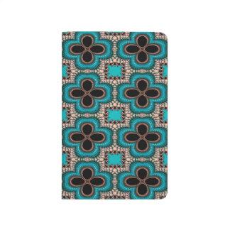 Modernes Prertty abstraktes blaues und schwarzes Taschennotizbuch