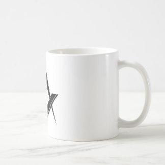 Modernes Quadrat und Kompass Tasse