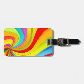Modernes Regenbogen-Strudel-Muster Kofferanhänger