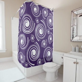 Modernes Retro Duschvorhang