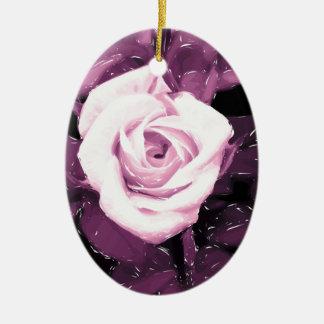 Modernes romantisches Rosendesign Keramik Ornament