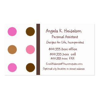 Modernes Rosa und Brown Visitenkarten