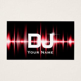 Modernes Rot DJ schlägt berufliche Visitenkarte